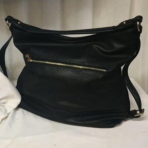 Dasein Hobo Shoulder Bag Womens Black Purse Crossb